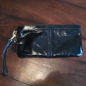 Coach patent leather clutch wristlet F13269